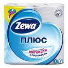 Бумага туалетная Zewa-Plus 2сл бел втор втул 23м 184л 4рул/уп 2113-0 144051